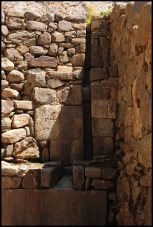 water channel near the temple of the condor - Ollantaytambo
