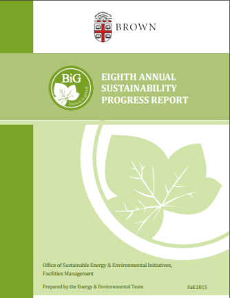 Designed and organized the 2015 Brown University Sustainability Report