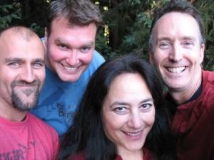 Scott Weidman, Dan Weidman, Sephera Giron, and S.G. Browne, taken by S.G. Browne.