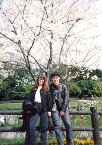 Loren & Mason in Japan in the spring.