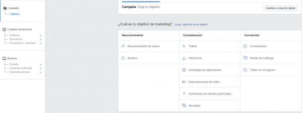 Objetivos 1 e1573667934665 - Guía fácil para crear tus anuncios en Facebook Ads🚀