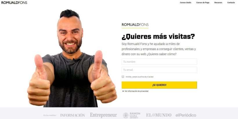 Romuald fons web.JPG 1 - Las webs de los 20 especialistas en posicionamiento SEO más importantes de España 🏆