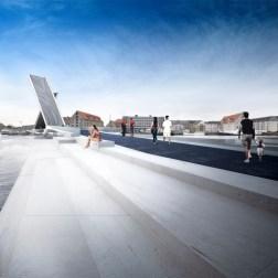 Copenhagen Harbour Bridge - Day view with open bridge