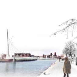 Gdansk Footbridge - North view
