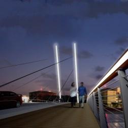 Camana Bay Bridges - Cable-stayed bridge C2