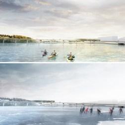 Kruunusillat Bridge - Photo (9) summer and winter 705px