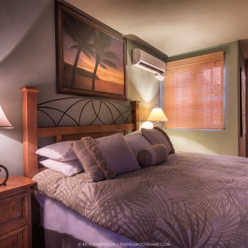 Each of the master suites has an adjoining bathroom.
