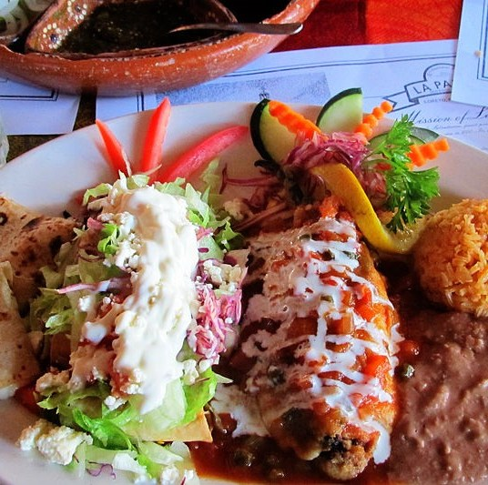 Mexican combination at Loreto's La Palapa