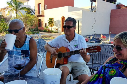 "Pedro hosts a ""Fat Tuesday"" happy hour outside his deli in Agua Viva and might even entertain."