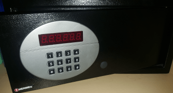 A small safe is available for securing your valuables.
