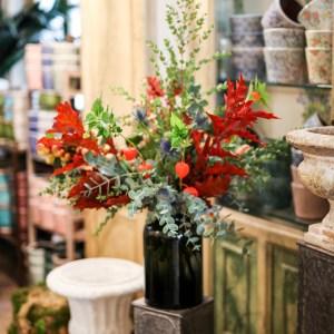 Arreglo floral verdes bodas y eventos madrid Loreto Aycuens