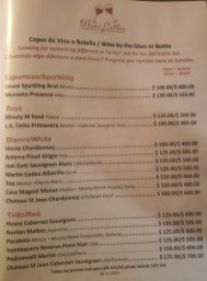 Wine Cellar Wine Menu November 2019