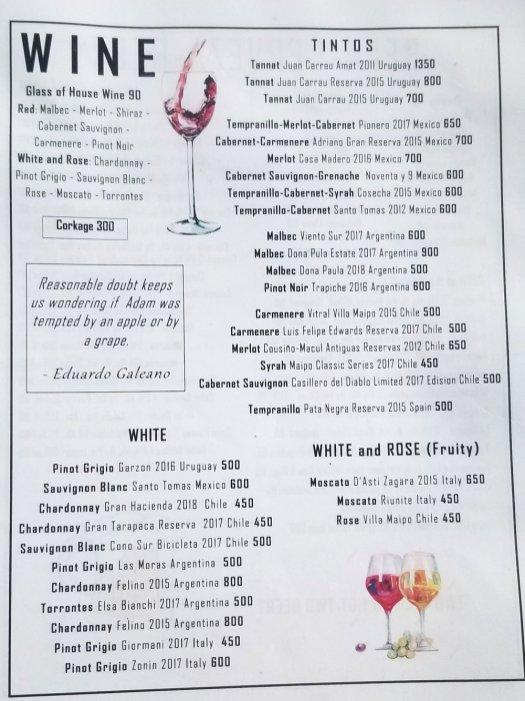 Mezzaluna Dinner Menu June 2019