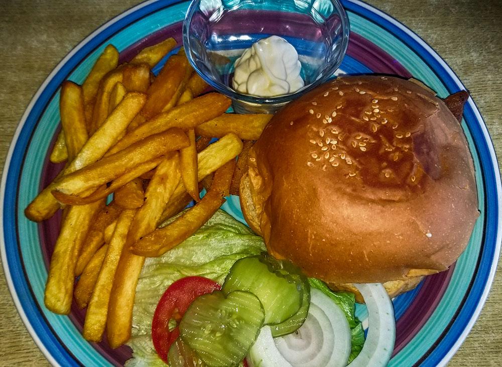 Cheeseburger at Augie's Bar & Bait Shop