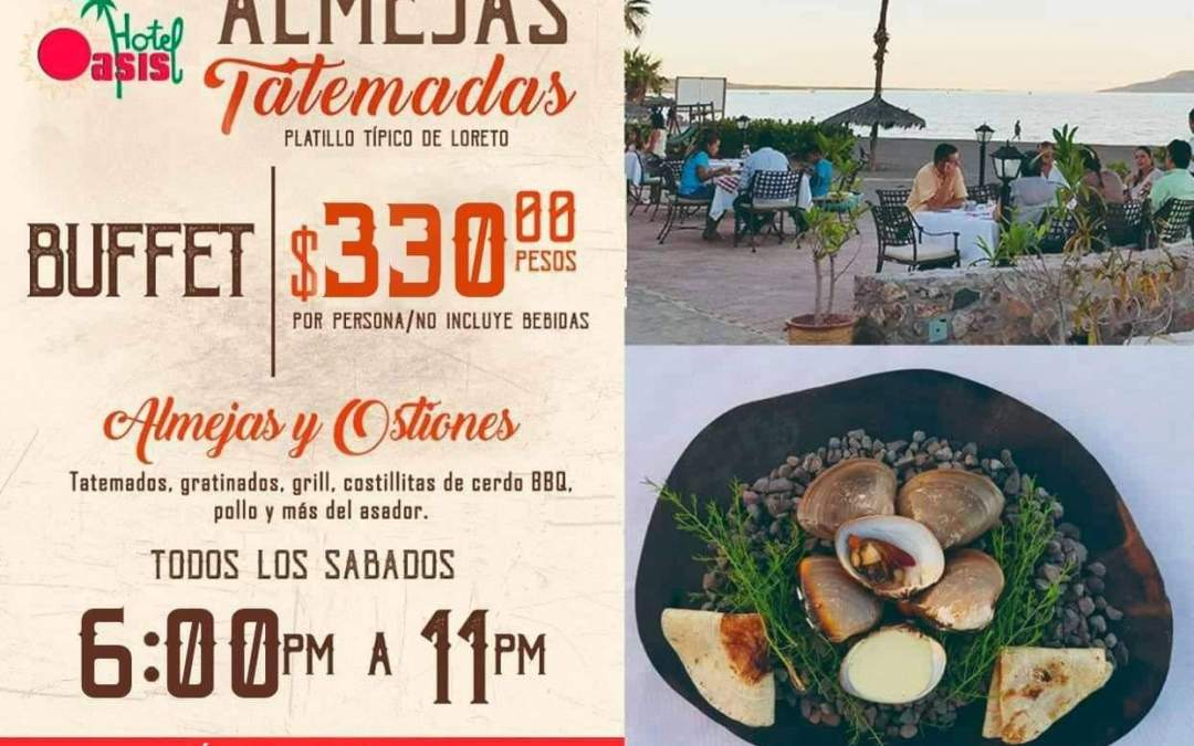 Almeja Tatemadas Buffet at Hotel Oasis Loreto Mexico