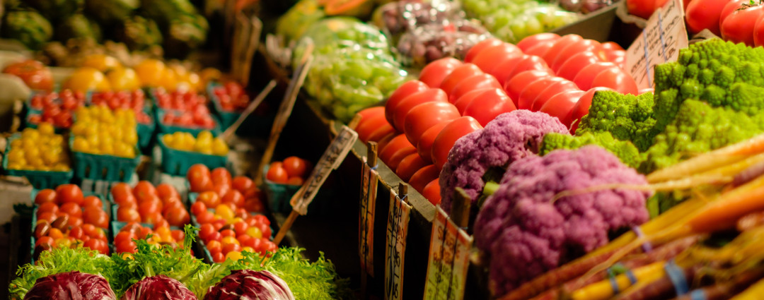 vegetables at store