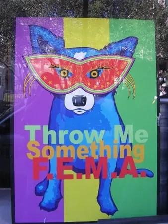 dog image - Throw me something FEMA