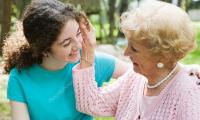 Teen girl loves her grandmother shows that when bipolar disorder in teens: Early treatment leads to better outcomes.