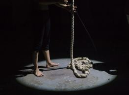 This young man is working with a rope to end his life because of the biology of suicide.