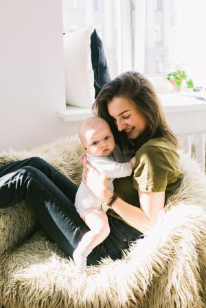 This mom's depression is in remission and she's enjoying her baby and her life.