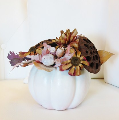 DYI Repurposed Thanksgiving Centerpieces