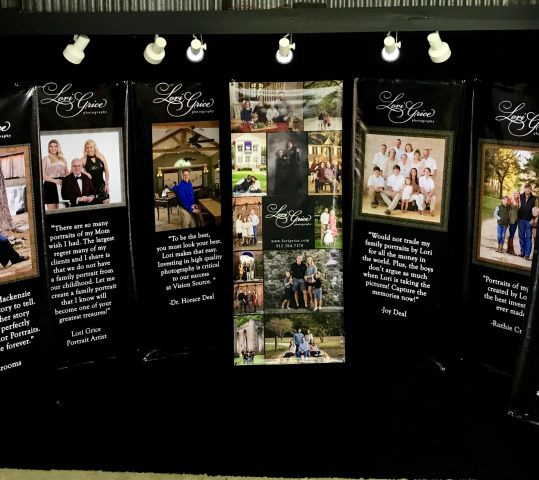 Kiwanis Fair Booth features Lori Grice's Clients Testimonials