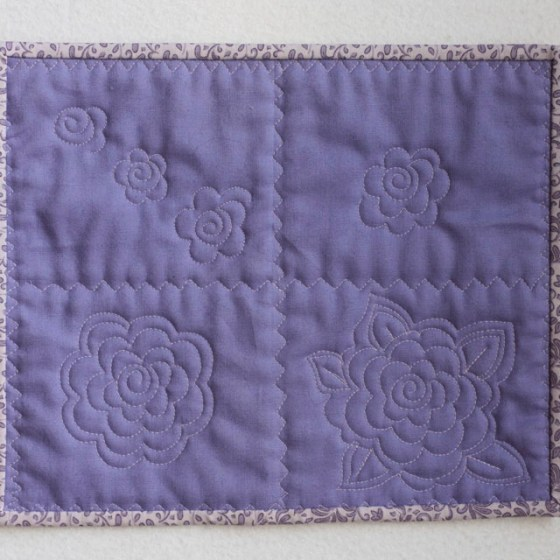 Free Motion Quilting Flower Motif