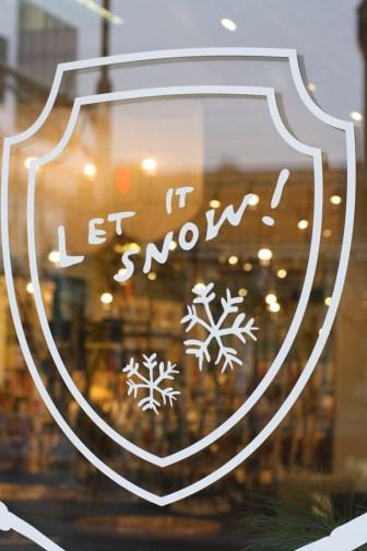 Mara Mi Window Decal --Let it Snow