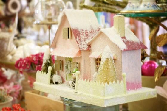 Vintage Christmas Village Decorations