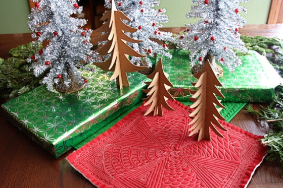 Tree Project Free Motion Quilting --Tutorial Christmas Decorations