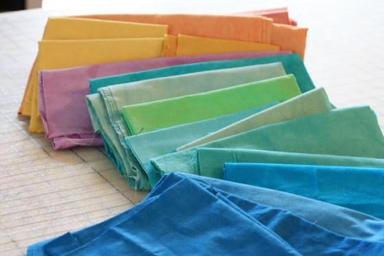 Quilt tip, color, hand dyed fabrics