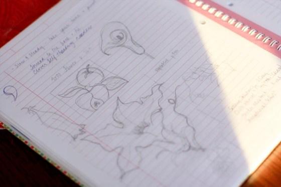 free motion quilting, sketchbook, doodles