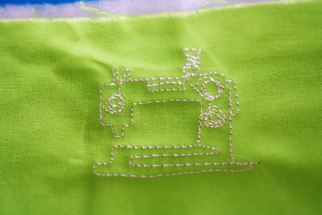 Bernina 820, Quilt Doodle, Free Motion Quilted Sewing Machine Motif