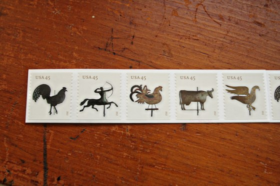 US Postage Stamps, Images, Photography, Weather Vane Stamps