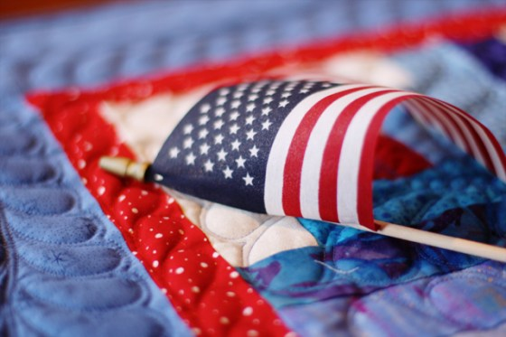American Flag, Quilt