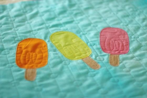 Popsicle Pillow Applique