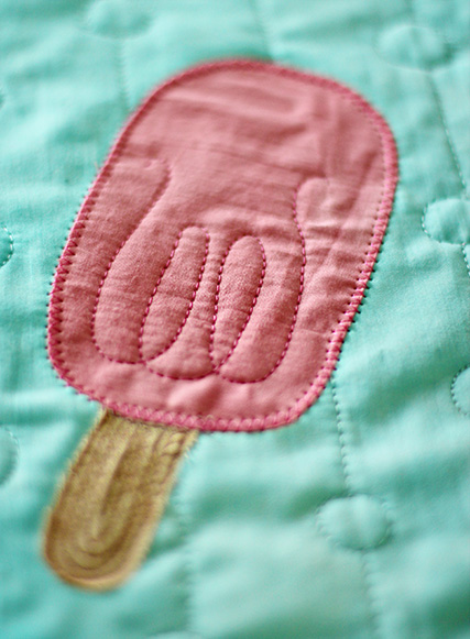 Popsicle Pillow Applique