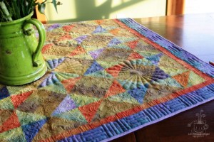 Fall Quilt, Free Motion Quilting, Stencils