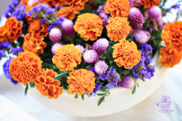 Marigold Centerpiece, How-to