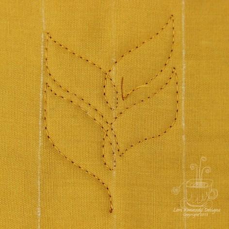 Wheat Braid, Free Motion Quilt Tutorial
