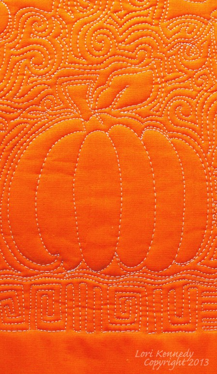 Pumpkin Free Motion Quilting