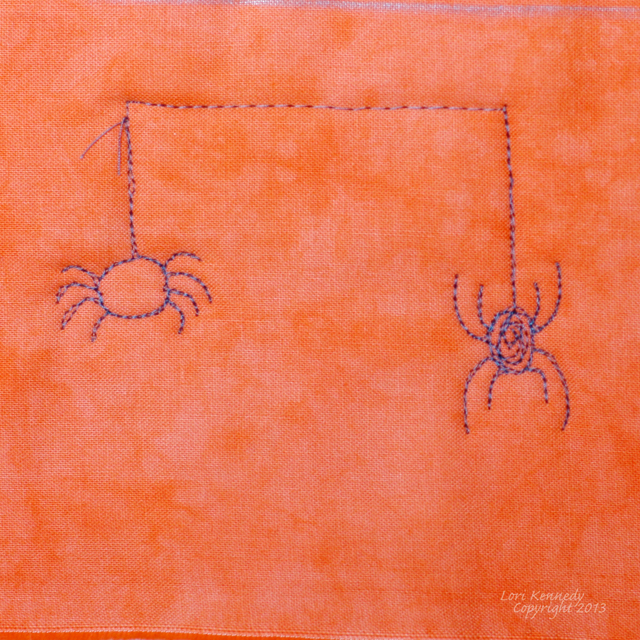 Free Motion quilting spider web