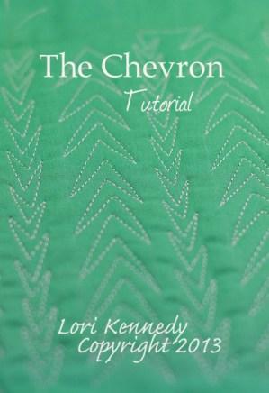 Free motion quilting tutorial, Chevron