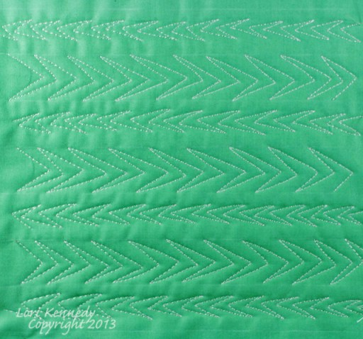 Free motion quilting tutorial, Chevron