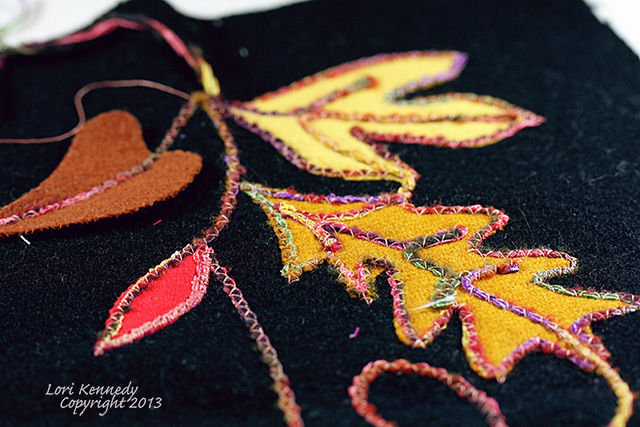 Embellished Wool Leaves