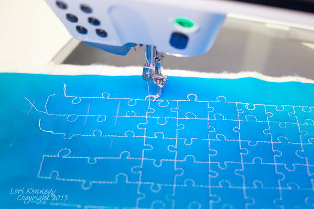 Jigsaw Puzzle Free Motion Quilting Tutorial