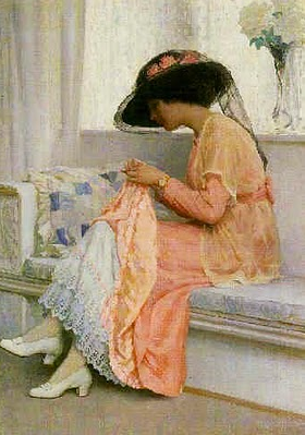 William Henry Margetson, A Stitch in Time