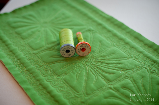 Free Motion Quilting, Square Flower
