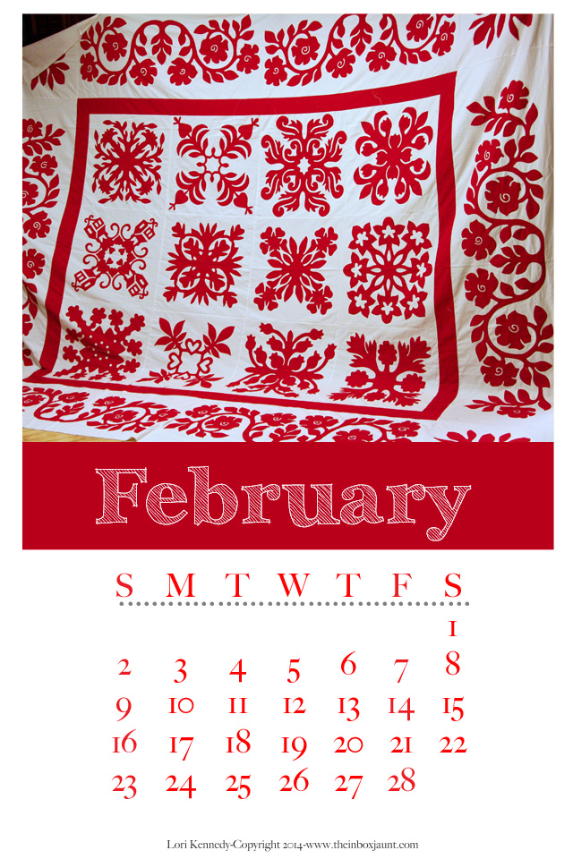 February Quilt Calendar