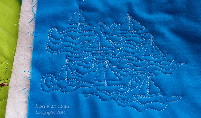 Sailboats Free Motion Quilting
